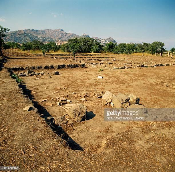 Ruins of ancient city of Naxos GiardiniNaxos Sicily Italy Greek civilisation Magna Graecia 8th5th century BC