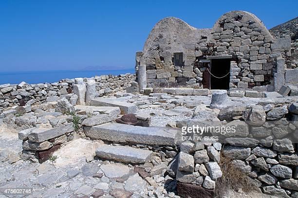 Ruins of ancient Thera Santorini island Greece Minoan civilisation 1115630 BC