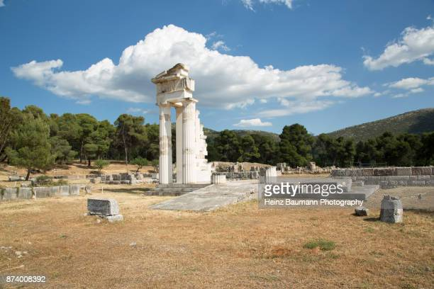 Ruins of ancient town of Epidaurus, (Epidavros), Peloponnese, Greece