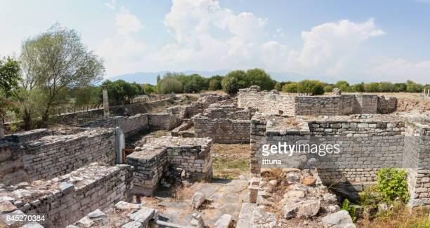 ruins of aphrodisias - priene stock photos and pictures
