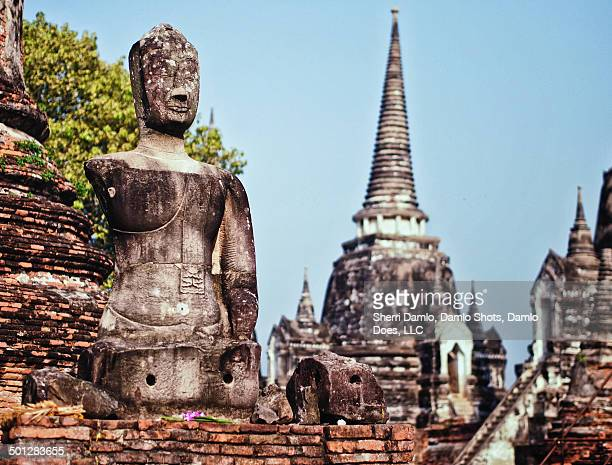 ruins of ayutthaya - damlo does stock pictures, royalty-free photos & images