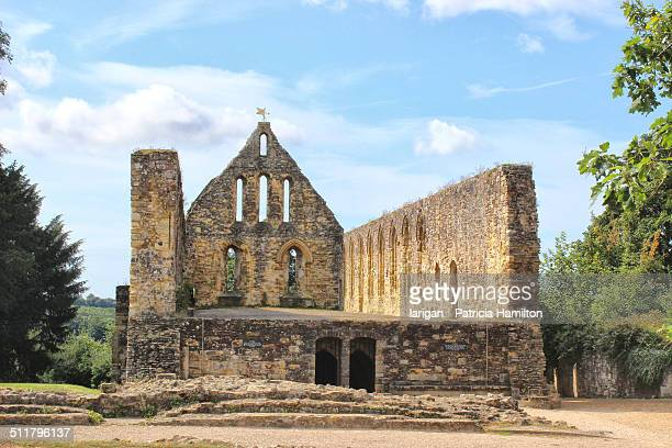 ruins of battle abbey, kent - battle stock photos and pictures