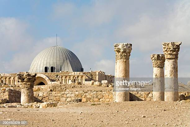 ruins of byzantine church and umayyad palace - byzantine stock pictures, royalty-free photos & images