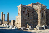 ruins church agios ioannis acropolis lindos