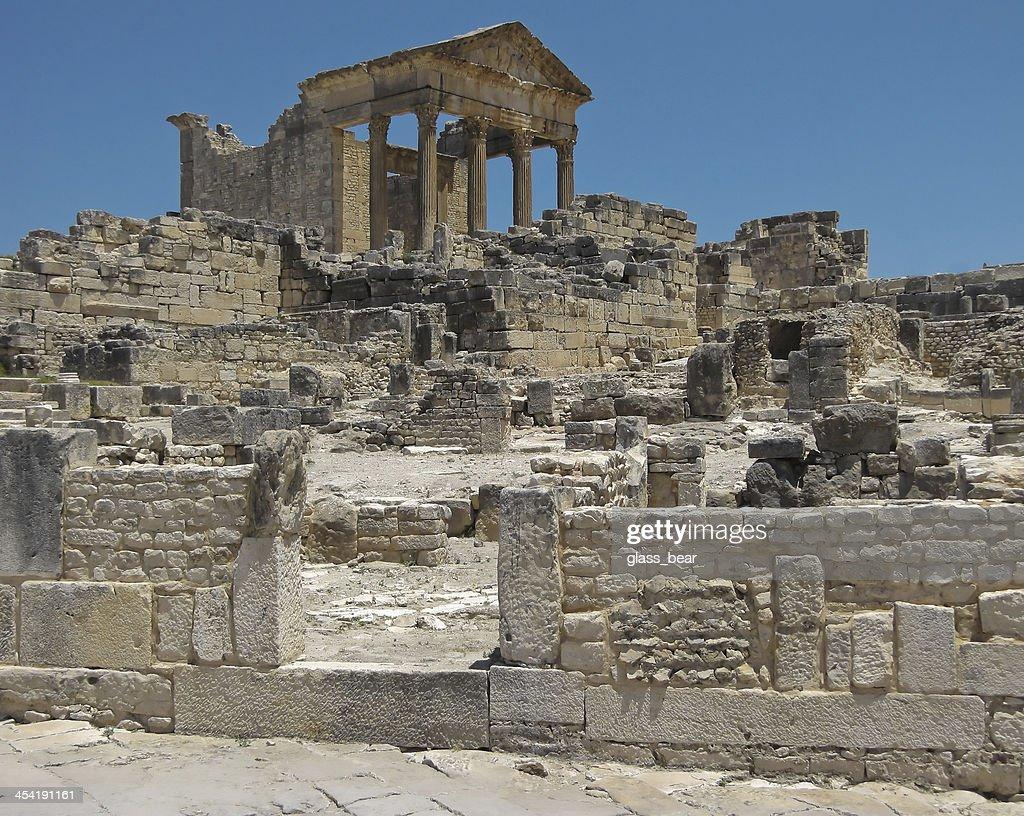 Ruinen von Dougga : Stock-Foto