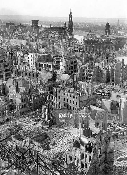 Ruins of Dresden after bombings 1946