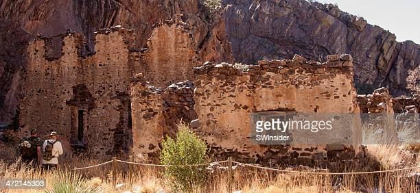 ruins of dripping springs resort near las cruces - las cruces new mexico stock pictures, royalty-free photos & images