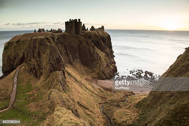 Ruins of Dunnottar Castle in Stonehaven on January 9, 2017.