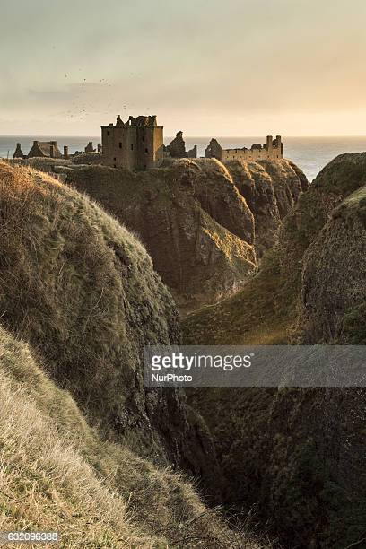 Ruins of Dunnottar Castle in Stonehaven on January 9 2017
