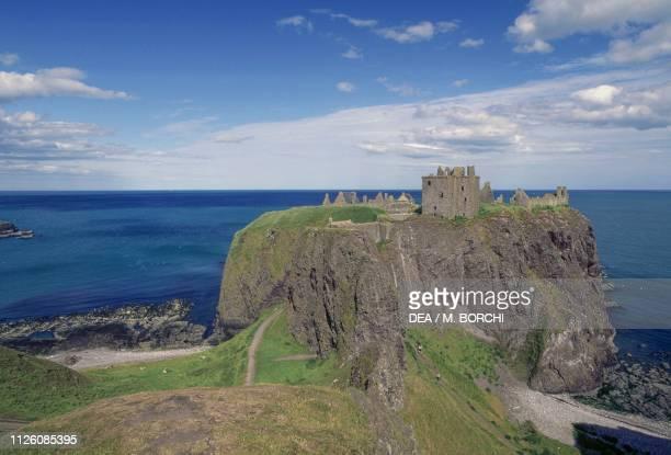 Ruins of Dunnottar castle, Stonehaven, Scotland, United Kingdom, 14th-17th century.