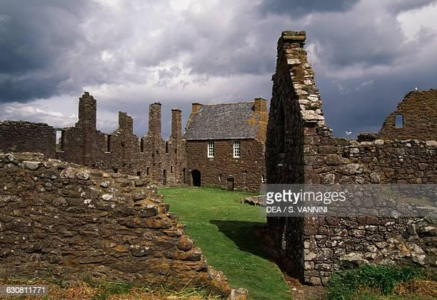 Ruins of Dunnottar Castle, Stonehaven, Scotland. United Kingdom, 15th-17th century.