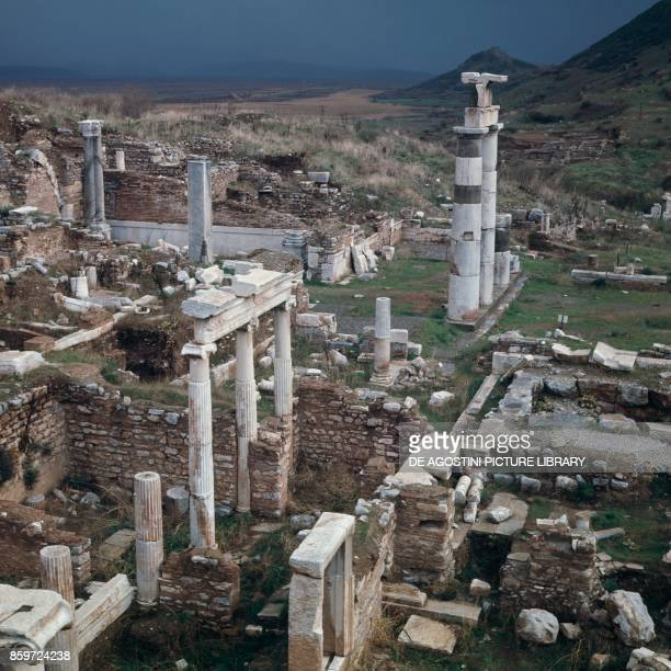 Ruins of Ephesus ancient Greek city on the coast of Ionia Izmir Province Turkey 15th14th century BC