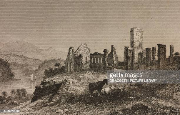 Ruins of Fort Ticonderoga United States of America engraving by Milbert from EtatsUnis d'Amerique by Roux de Rochelle L'Univers Pittoresque published...