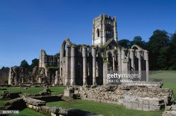 Ruins of Fountains Abbey Cistercian Abbey Studley Royal Park England United Kingdom