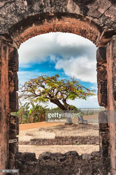 ruins of historic building, so pedro de alcantara, maranhao, brazil - maranhao state stock pictures, royalty-free photos & images