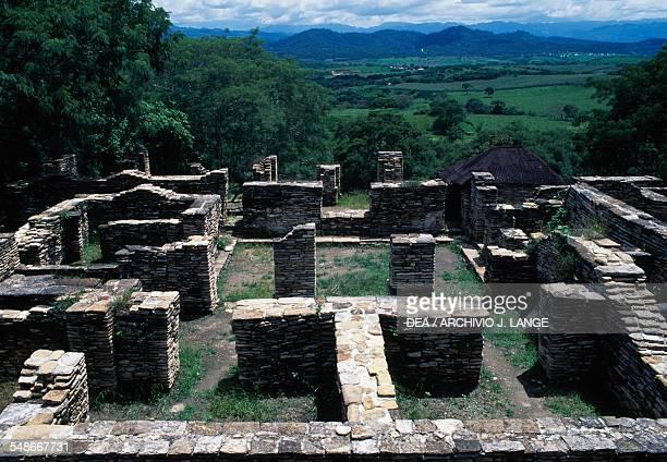 Ruins of houses Tonina Ocosingo Chiapas Mexico Mayan civilisation 6th9th century