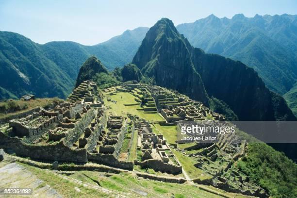 Ruins of Inca city on Machu Picchu. | Location: Urubamba Province, Peru.