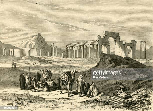 """'Ruins of Palmyra', 1890. From """"Cassell's Illustrated Universal History Vol. II - Rome"""", by Edmund Ollier. [Cassell and Company, Limited, London,..."""