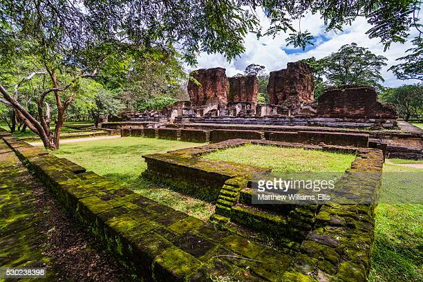 ruins of parakramabahu's royal palace, polonnaruwa, unesco world heritage site, cultural triangle, sri lanka, asia - lanka stock pictures, royalty-free photos & images