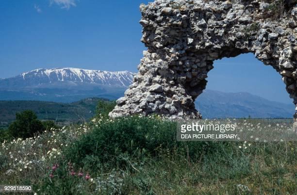 Ruins of Peltuinum Prata d'Ansidonia Abruzzo Italy Roman civilisation