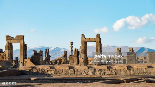 Ruins of  Persepolis, the Ancient Ceremonial capital of the Achaemenid, near Shiraz, Fars Province, Iran