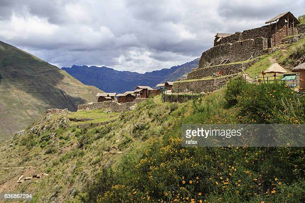 Ruins of Pisac, Inca city in Inca Sacred Vallley