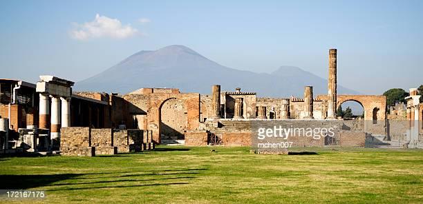 Ruins of Pompei and Mt. Vesuvius