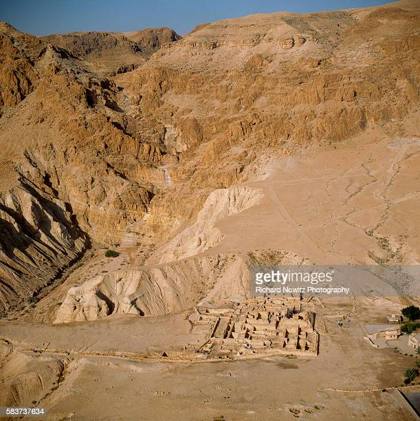Ruins of Qumran near caves in which the Dead Sea Scrolls were discovered Israel