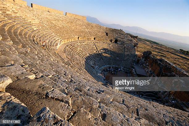 ruins of roman spa city hieropolis in turkey - alison roman stock pictures, royalty-free photos & images