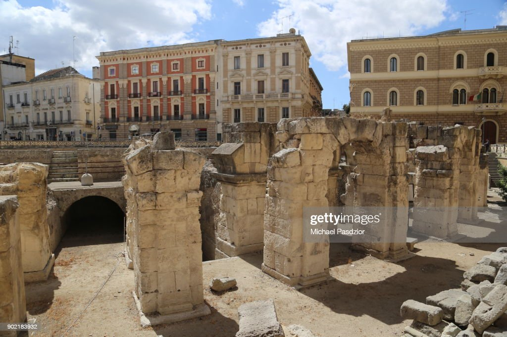 ruins of roman theatre : Stock Photo