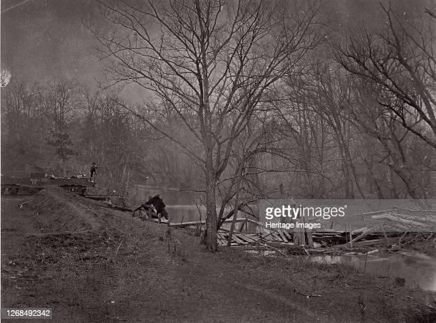 Ruins of RR Bridge Bull Run circa 1862 Formerly attributed to Mathew B Brady Artist Unknown