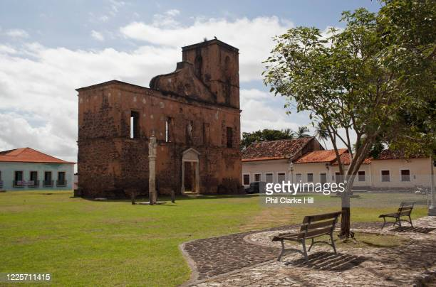 Ruins of Sao Mateus Church in Alcantara, 27th May 2014, Maranhao, Brazil. Alcantara is an island off the north east coast of Brazil close to Sao...