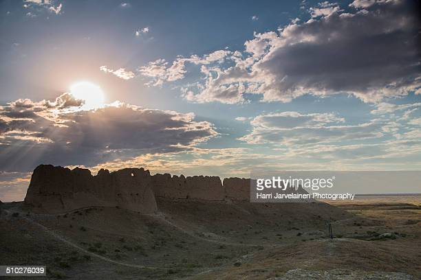 Ruins of Sauran medieval fortress, Kazakhstan