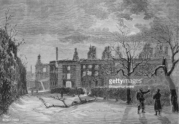 Ruins of st cloud vastle outside paris illustrated war history german french war 18701871