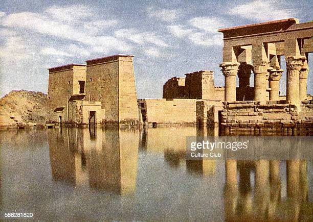 Ruins of Temple of Philae Egypt Photograph from book of 1923