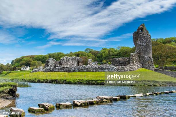 Ruins of the 12th century Ogmore Castle in south Wales taken on May 22 2019