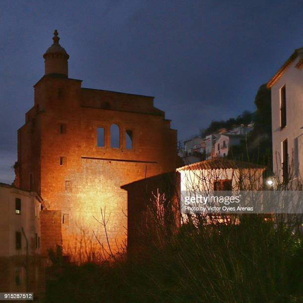 Ruins of the 16th century Church of Santa Maria at night in the old village of Cazorla in Jaen, Andalusia, Spain