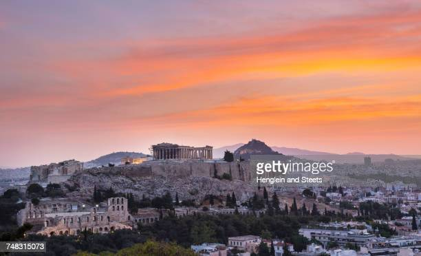 Ruins of the acropolis, Athens, Attiki, Greece, Europe
