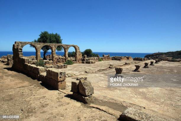 Ruins of the Alexander Cathedral are pictured 14 August 2002 at the historic site of Tipasa On he Shores of the Mediterranean Tipasa was an ancient...