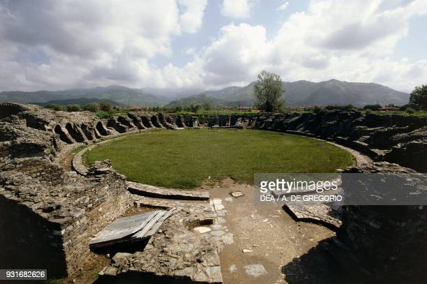 Ruins of the amphitheatre of Luni Ortonovo Liguria Italy 2nd3rd century Roman civilisation