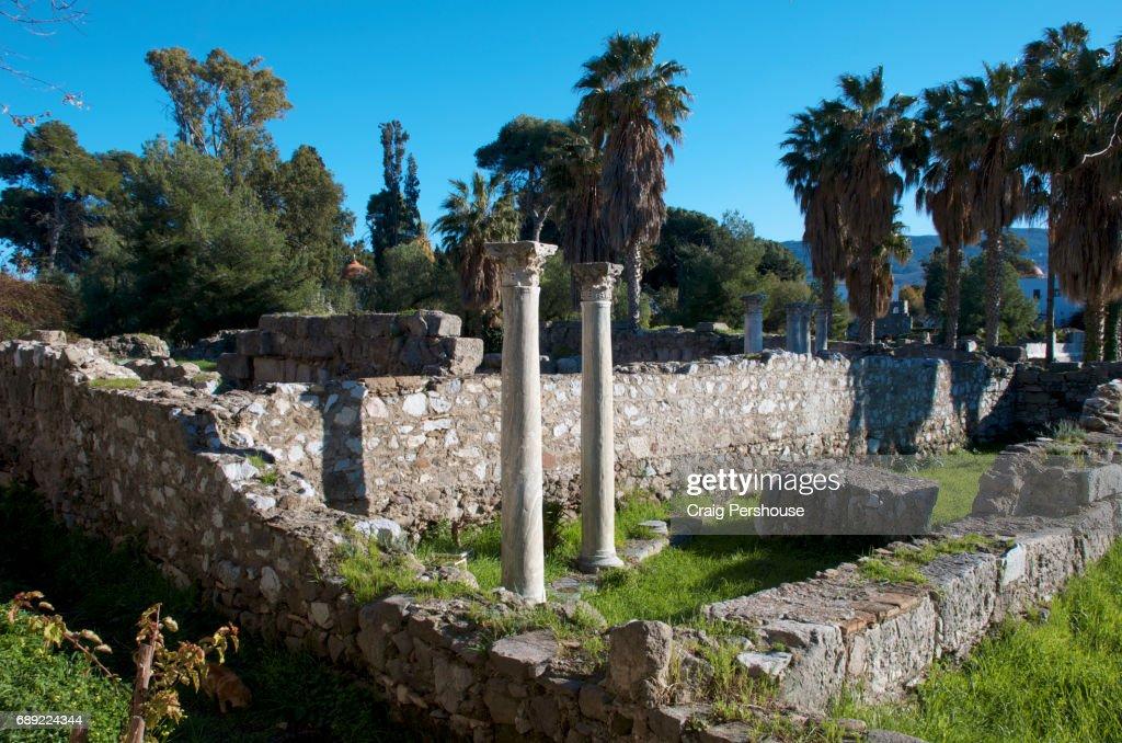 Ruins of the Ancient Agora. : Stock Photo
