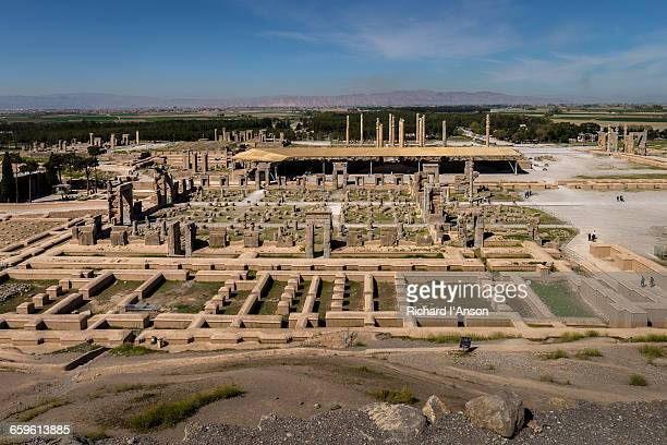 ruins of the ancient city of persepolis - persepolis stock pictures, royalty-free photos & images