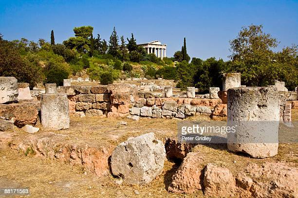"""Ruins of the ancient Greek Agora, Athens, Greece"""