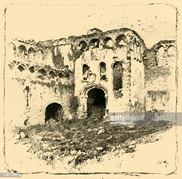 Ruins of the Bishop's Palace' 1898 St Davids Bishops Palace dates back to the 6th century although the ruins date largely from late 13th14th...