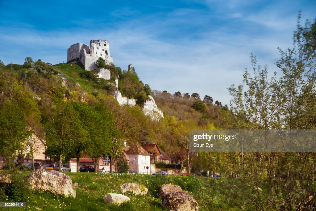 Ruins Of The Castle Chateau Gaillard In Les Andelys Normandie Region In France High Res Stock Photo Getty Images