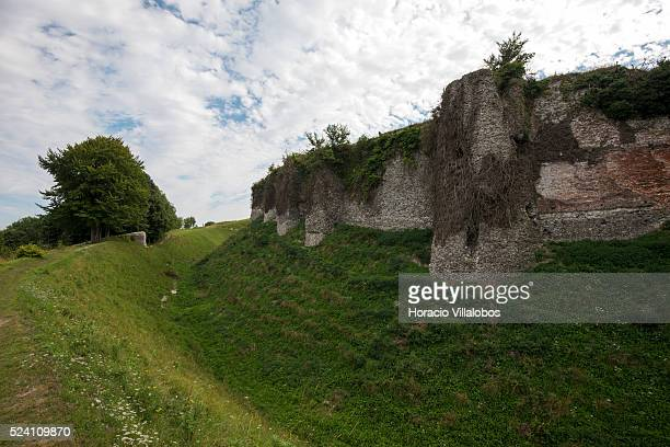 Ruins of the castle of Arques-la-Bataille, near Dieppe, France, 23 August 2013. The fortified castle was built on a rocky promontory overlooking the...