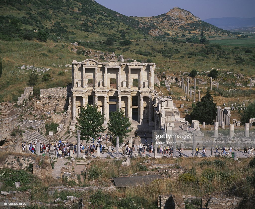 Ruins of the Celsus Library : Foto stock