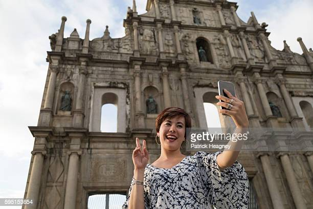 Ruins of the Church of St Paul Selfie
