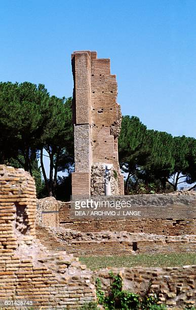 Ruins of the Domus Flavia Palatine Hill Historic Centre of Rome Lazio Italy Roman civilisation