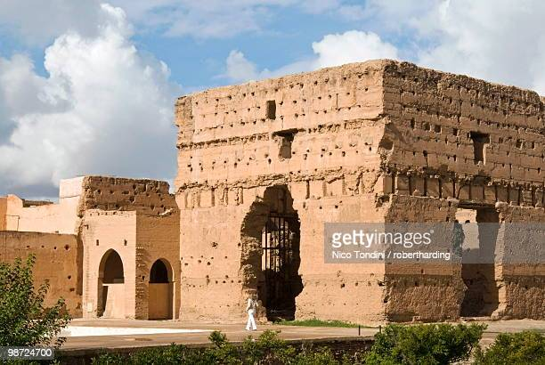 Ruins of the El Badi Palace, Marrakech (Marrakesh), Morocco, North Africa, Africa
